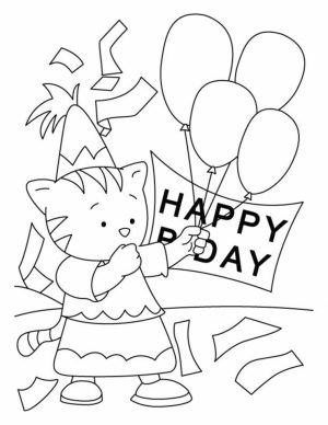 Kids Printable Happy Birthday Coloring Pages Fun   68102