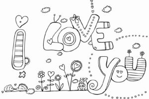 Kids' Printable I Love You Coloring Pages Free Online   p2s2s