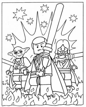 Lego Star Wars Coloring Pages Free Printable   95654