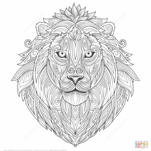 Lion Coloring Pages for Adults to Print   85864