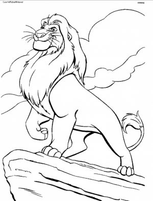 Lion King Coloring Pages Free   8310a