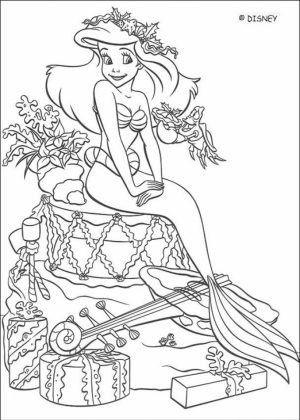 Little Mermaid Coloring Pages Classic Disney Princess Free   31352