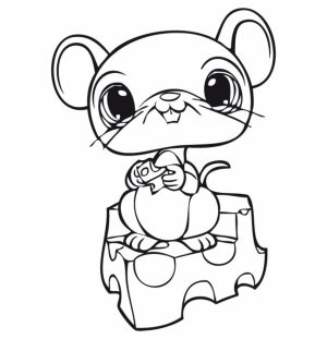 Littlest Pet Shop Cute Animals Coloring Pages for Kids   62710