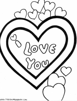 Love Coloring Pages Printable   05783