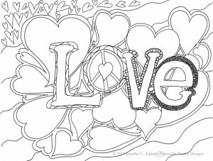 Love Coloring Pages Printable   89576