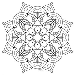 Mandala Design Coloring Pages   7749c
