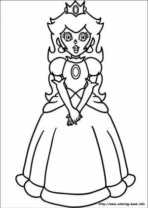 Mario Coloring Pages Princess Peach   74hsl