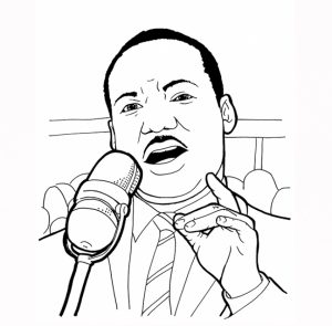 Martin Luther King Jr Coloring Pages for Toddlers   dl53x