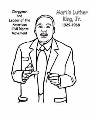 Martin Luther King Jr Coloring Pages Free for Kids   e9bnu