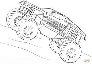 maximum destruction monster truck coloring page – 38721
