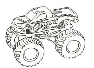 monster truck coloring page free printable for kids – 77219