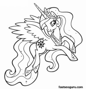 My Little Pony Friendship Is Magic Coloring Pages Free for Kids   32885