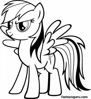 My Little Pony Friendship Is Magic Coloring Pages to Print Online   4794