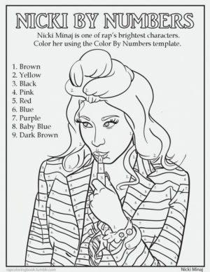 Nicki Minaj Coloring Pages To Print   95792
