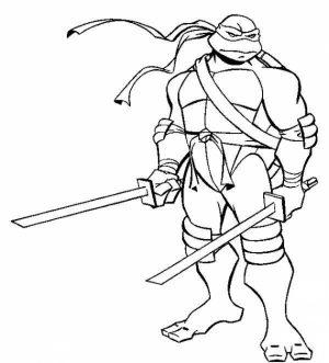 Ninja Turtle Coloring Page Free Printable   42032
