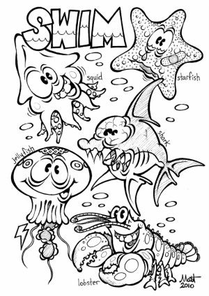 Ocean Coloring Pages for Preschoolers   ywb5l