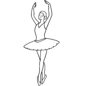 Online Ballerina Coloring Pages   6q194