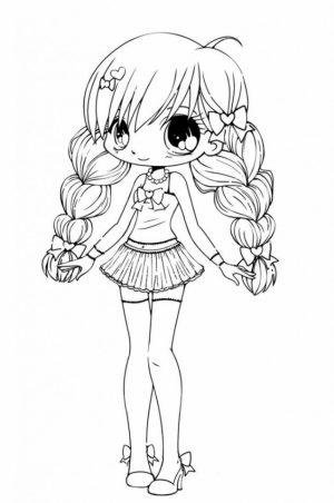 Online Chibi Coloring Pages to Print   B9149