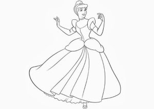 Online Cinderella Coloring Pages   47428