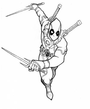 Online Deadpool Coloring Pages   569678