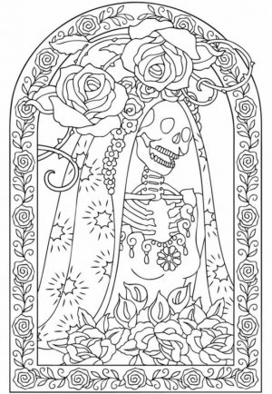 Online Dia De Los Muertos Coloring Pages   a9m0j