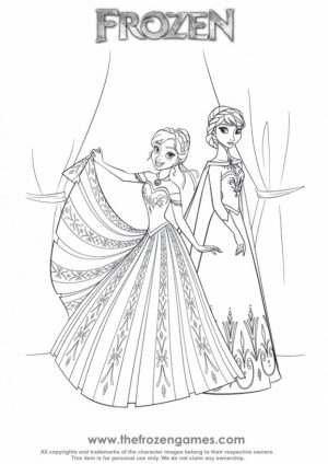 Online Disney Coloring Pages of Frozen Princess Anna   49103