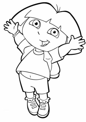 Online Dora The Explorer Coloring Pages   gkhlz