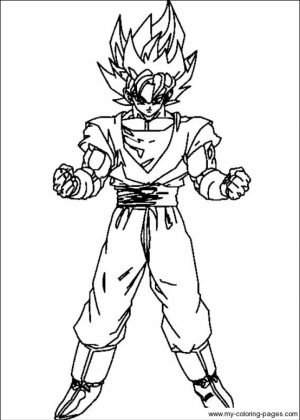 Online Dragon Ball Z Coloring Pages   583