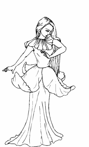 Online Fairy Coloring Pages   45556