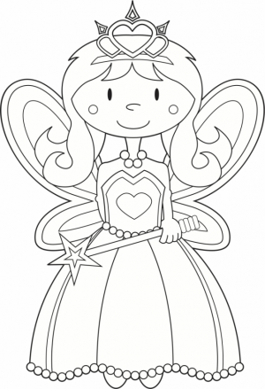 Online Fairy Coloring Pages   47429