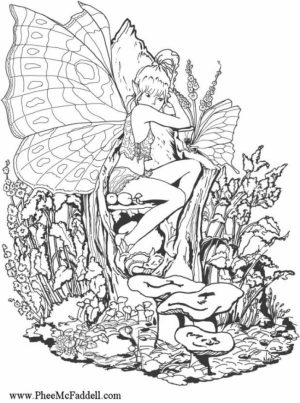Online Fairy Coloring Pages   81478