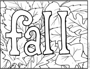 Online Fall Coloring Pages for Kids   sz5em