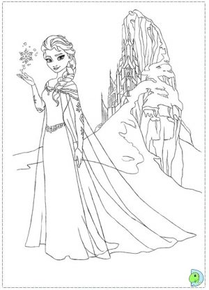 Online Frozen Coloring Pages   358893
