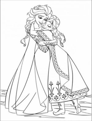 Online Frozen Coloring Pages   703929