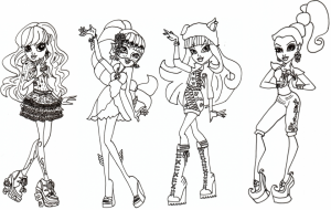 Online Monster High Coloring Pages   289289