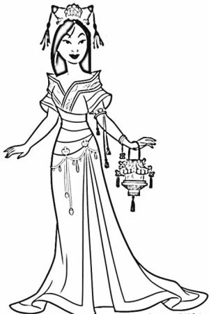 Online Mulan Coloring Pages   jzj9z