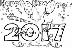 Online New Years Coloring Pages to Print   58049