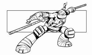 Online Ninja Turtle Coloring Page   34136