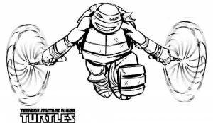 Online Ninja Turtle Coloring Page   37425