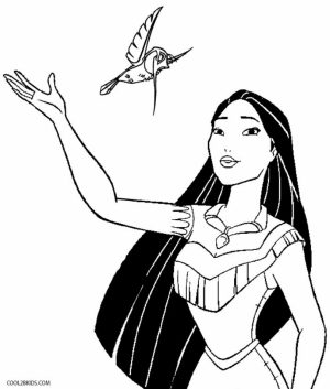 Online Printable Pocahontas Coloring Pages   4G45S