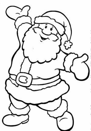 Online Santa Coloring Page   34136