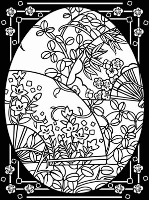 Online Stained Glass Coloring Pages   83723