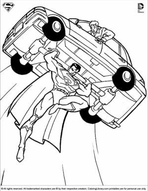 Online Superman Coloring Pages   81476