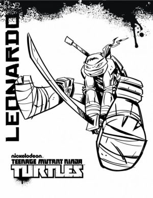 Online Teenage Mutant Ninja Turtles Coloring Pages   10237