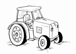 Online Tractor Coloring Pages   38730