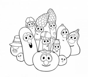 Online Veggie Tales Coloring Pages   6q184