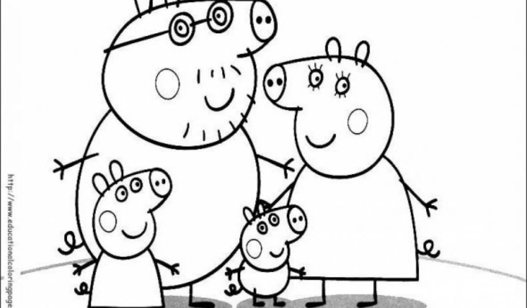 Get This Peppa Pig Coloring Pages Free Printable 18204