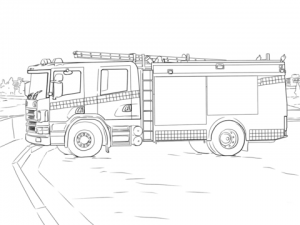 Picture of Fire Truck Coloring Page Free for Children   32945