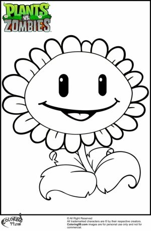 Plants Vs. Zombies Coloring Pages Free   y5712