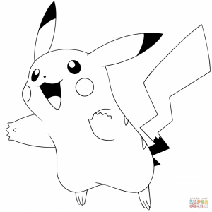 Pokemon Pikachu Coloring Pages   try12